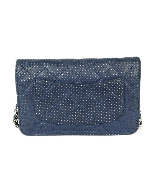 Chanel Navy Perforated Leather Crossbody 3