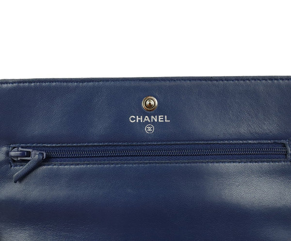 Chanel Navy Perforated Leather Crossbody 8