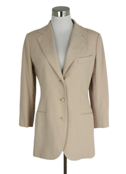 Chanel Size 4 Neutral Beige Cotton Jacket | Chanel