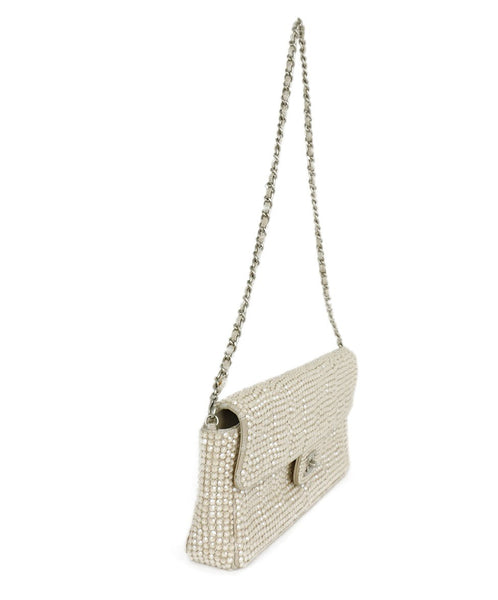 Chanel Neutral Beige Rhinestone Handbag 2