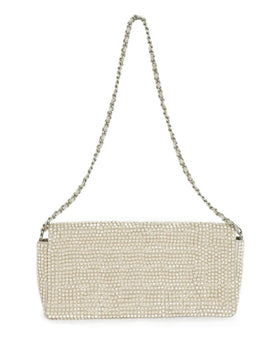 Chanel Neutral Beige Rhinestone Handbag 1