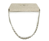 Chanel Neutral Beige Rhinestone Handbag 4
