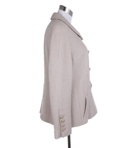 Chanel Neutral Beige Wool Jacket 1