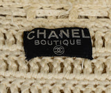 Chanel Neutral Cream Cotton Fringe Jacket 4