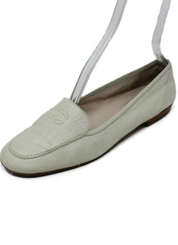 Chanel Ivory Leather Flats 1