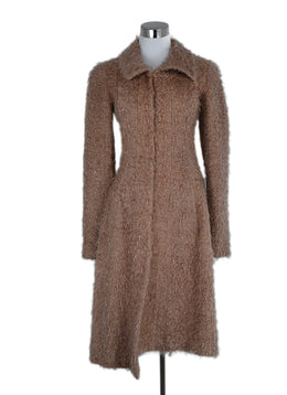 Chanel Neutral Tan Nylon Wool Coat Outerwear 1