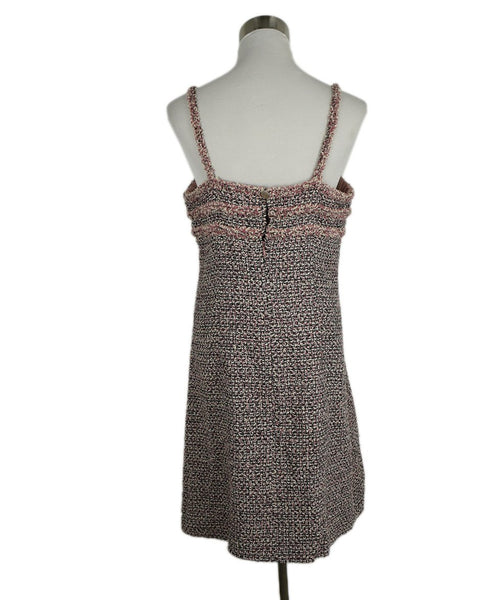 Chanel Pink, Black, and White Tweed Dress 3