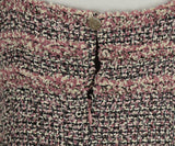Chanel Pink, Black, and White Tweed Dress 7