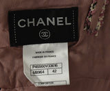 Chanel Pink, Black, and White Tweed Dress 4