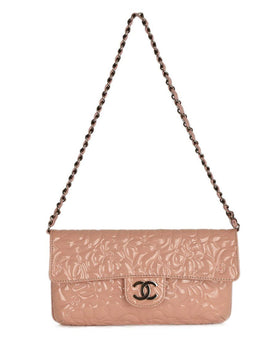 Chanel Pink Patent Leather Shoulder Bag Handbag | Chanel