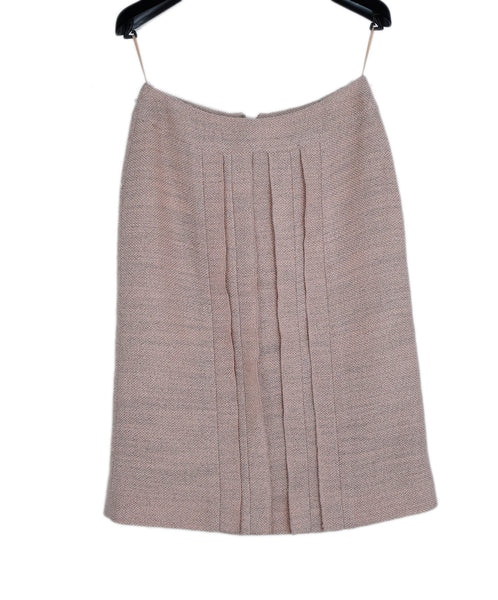 Chanel Pink Wool Polyester Skirt 1