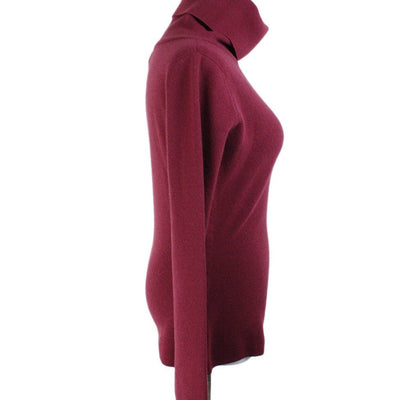 Chanel Burgundy Cashmere Sweater Sz 4