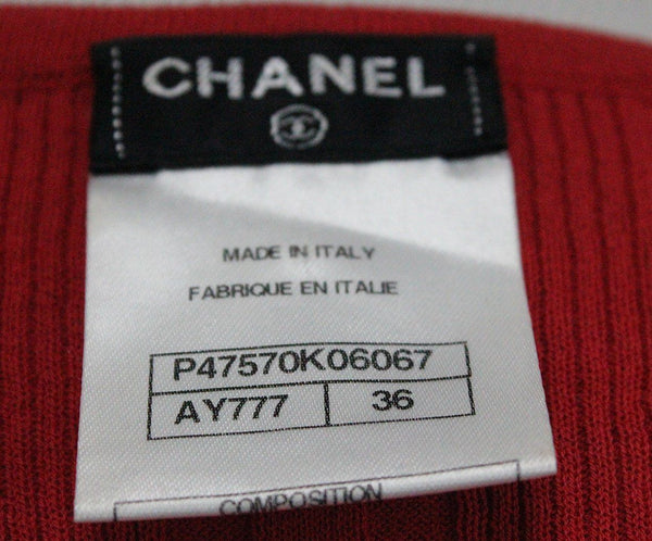 Chanel Red Cotton Top 3
