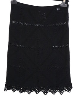 Chanel Black Cotton Knit Skirt 1