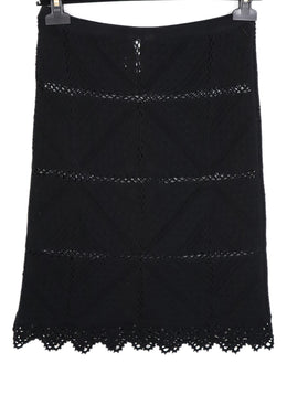 Chanel Black Cotton Knit Skirt 2