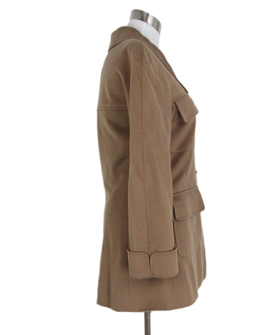 "Chanel "" 1998"" Tan Cashmere Jacket 1"