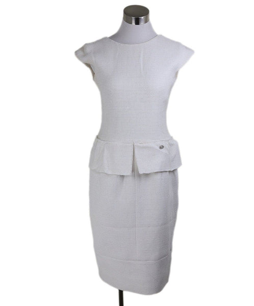 "Chanel White Cotton ""as is"" Dress 1"