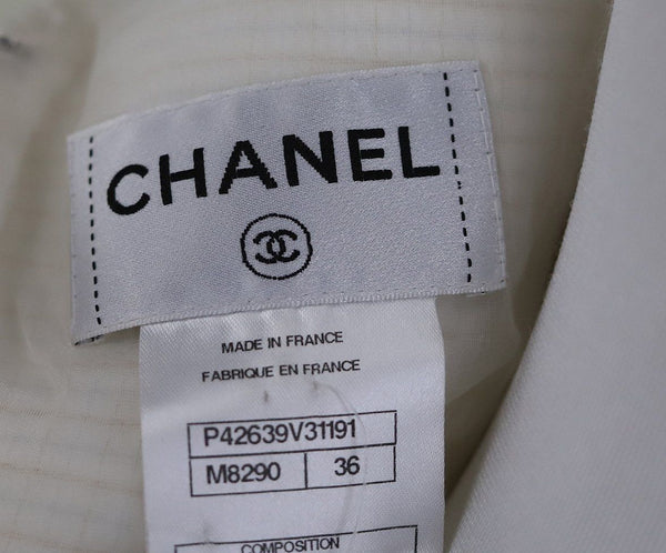 "Chanel White Cotton ""as is"" Dress 4"