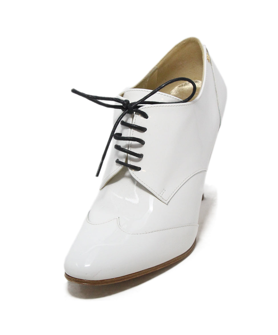 d96f3a6aad Chanel US 7.5 White Patent Leather Shoes - Michael's Consignment NYC