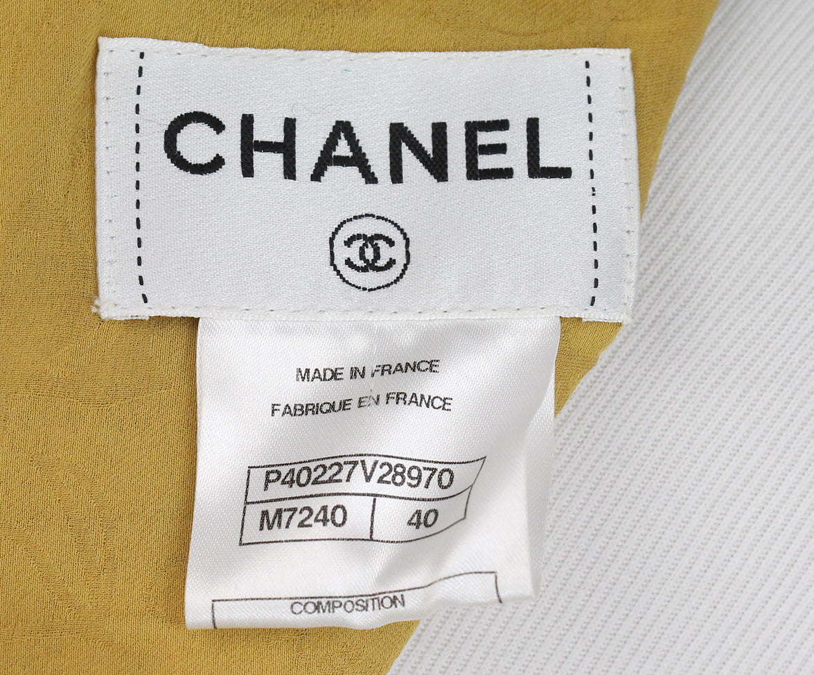 Chanel yellow mustard tweed dress 4