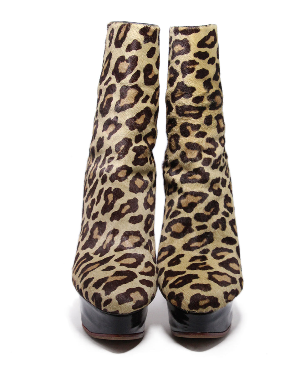 Charlotte Olympia Animal Print Pony Hair Boots 4
