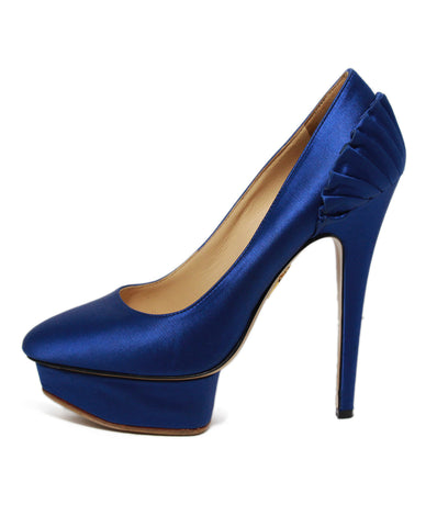Charlotte Olympia Blue Satin Platforms 1