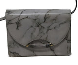 Crossbody Gold Hardware Charlotte Olympia White Leather Marble Calfskin Handbag 8