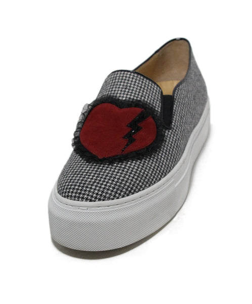 Charlotte Olympia black white red heart sneakers 1