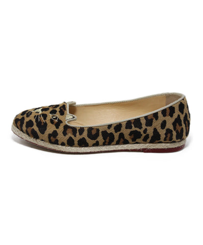Charlotte Olympia brown tan animal print flats 1