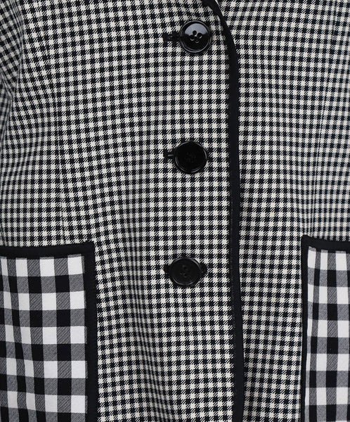 Cheap And Chic Moschino Black and White Plaid Jacket 5