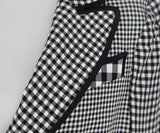 Cheap And Chic Moschino Black and White Plaid Jacket 6
