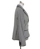 Cheap And Chic Moschino Black and White Plaid Jacket 2
