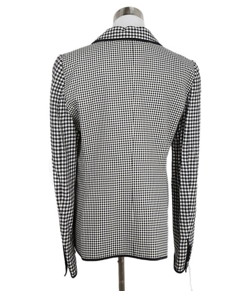 Cheap And Chic Moschino Black and White Plaid Jacket 3