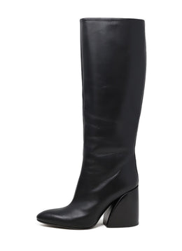 Chloe Black Leather Boots 1