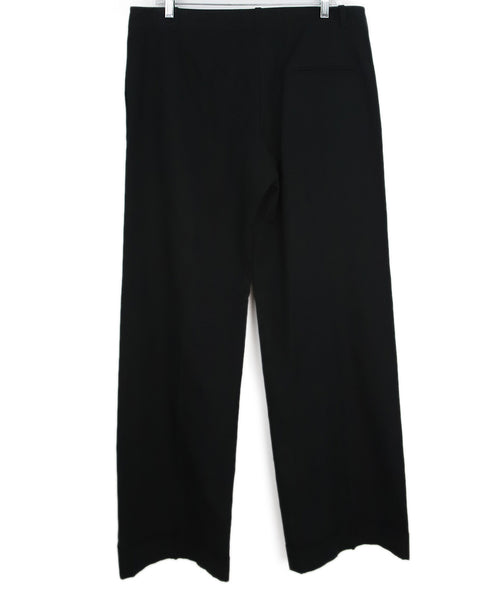 Chloe Black Cotton and Silk Pants 1