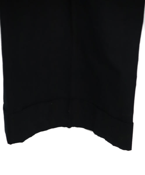 Chloe Black Cotton and Silk Pants 4