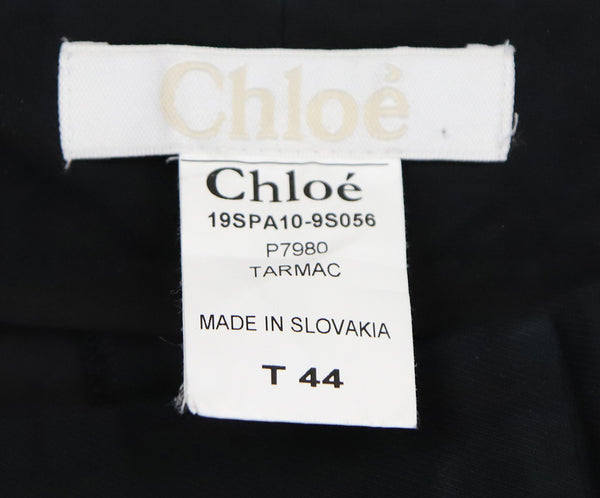 Chloe Black Cotton and Silk Pants 3