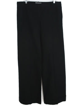 Chloe Black Cotton and Silk Pants 2