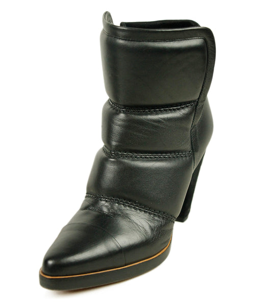 Chloe Black Quilted Leather Booties 1