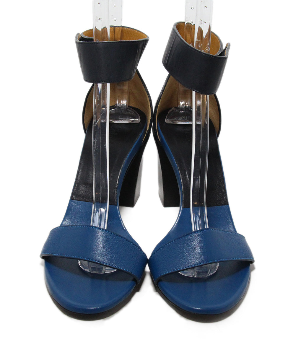 Chloe Blue Black Leather Sandals 4