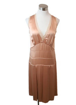 Chloe Peach Silk Dress 1