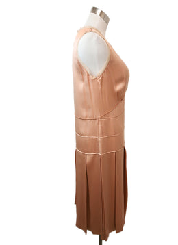 Chloe Peach Silk Dress 2