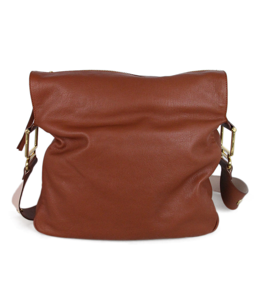 Chloe Brown Leather Shoulder Bag 1