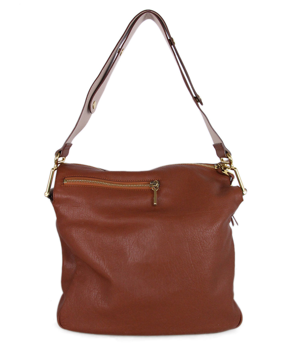 Chloe Brown Leather Shoulder Bag 3
