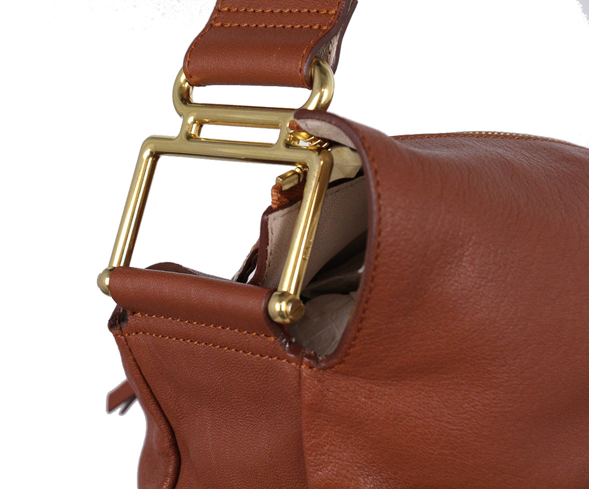 Chloe Brown Leather Shoulder Bag 8