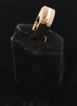 Chloe Metallic Gold Lucite Ring