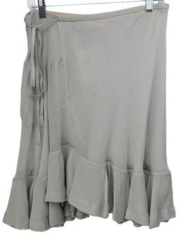 Chloe Grey Silk Ruffle Skirt 1