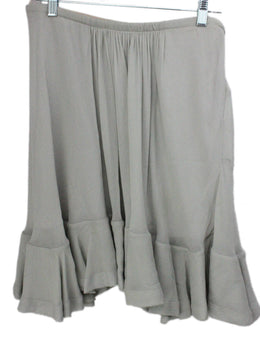 Chloe Grey Silk Ruffle Skirt 2