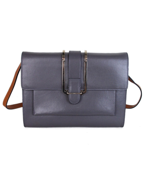 Chloe Grey leather brown strap bag 1