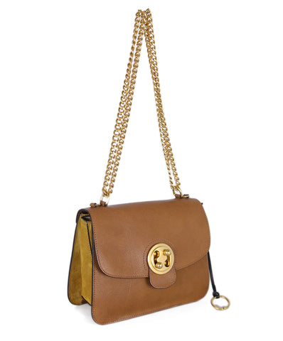 Chloe Mustard Leather Suede Crossbody 1